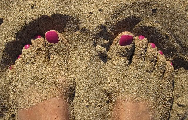 naboso v písku